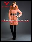 2014 elegant shiny big fur high quality european size long womens down wholesale fashion design desigual women clothes turkish