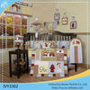 100%cotton applique embroidery crib bedding