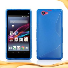for sony xperia z1 mini silicon TPU jelly s line case