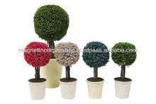 Round Shape Potpourri Bulk Air Freshener Large & Small (Blue / Green / Pink / White)