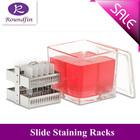 Stainless steel sldie staining racks