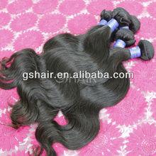 "12""30"" stock human hair weaving,top grade 6A Indian virgin hair extensions"