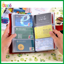 Encai New Design Leather Credit Cards Holder/Bank Card Holder/Large Size Business Cards Case