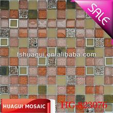 Passionate 23*23*8 kitchen backsplash glass bohemian style mosaic tile