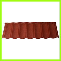 colorful stone coated metal copper maroon roofing shingle tile