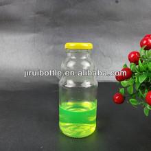 clear glass juice bottle,orange glass juice bottle,beverage glass bottle with metal lid
