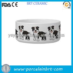 good wholesale ceramic cartoon dog bowl