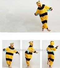 High quality 100% polar fleece plus size honey bee costume
