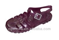 Top fashion purple color plastic jelly shoes