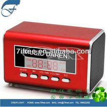 fm radio mini digital speaker tf card music player bass subwoofer