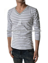 Men's V-neck T-shirt with Moisture Transfer Technology, Made of Durable Eco-friendly Polypropylene
