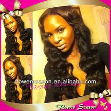 Indian Virigin Hair Fashion Wavy Glueless Cheap Silk Top Full Lace Wigs