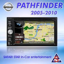 Double din Nissan Pathfinder Car DVD Player GPS Navigation 2005-2010