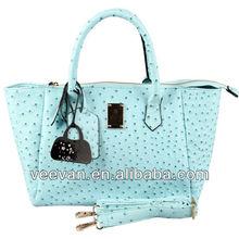 2014 new designed leather hand bag ;fashion lady bag