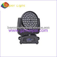zoom led 56*4in1 stage lighting rgbw 10watt rotating led rgbw party stage light 4 in 1 zoom led moving head light
