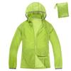 Waterproof thin nylon unisex windbreaker jacket with bag