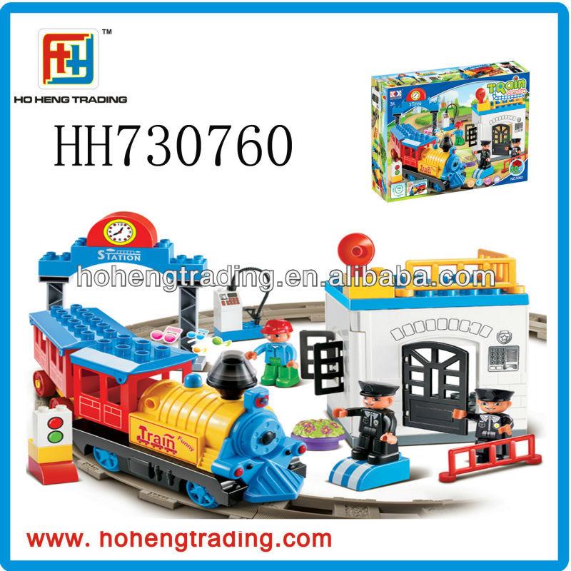 Toy train paradise building block train block