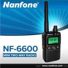 Nanfone NF-6600 emergency alarm mini fm two way radio