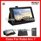 Auto Wake Sleep Function,Smart PU Leather Case For Kobo Arc 7 8GB,Black