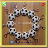 Football Sport silicone keychain
