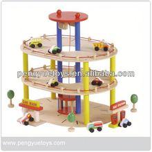 garage playset toys wooden car park toys wholesale
