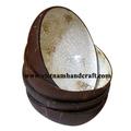 Qualidade eco- amigável mão acabado de laca vietnamita de casca de coco laca artesanato itens embutidos com casca de ovo dentro