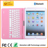 2014 hot sell bluetooth keyboard pink case for ipad air
