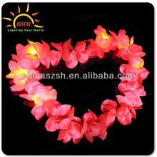 LED Flashing Holiday Party Hawaiian Flower Leis Necklace