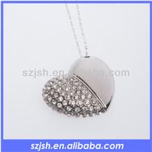 high quality heart shape usb flash memory, jewelery usb