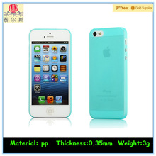 Frosted slim fit case for iphone 5S mobile case