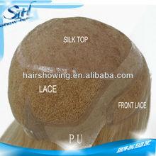 High quality full cap lace human hair wigs white women
