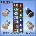 3.5v led interruptor de botão redondo anel de trava tipo