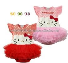 Girl's romper, baby girl' kitty tutu romper, MR-413