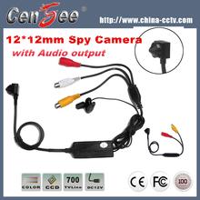 12*12mm 700tvl Clips Video Hidden Borehole Camera with Audio