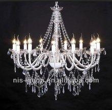 modern luxury white crystal chandelier for wedding hotel pendant light NS-120125W