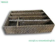 Vietnam rattan office sundries tray