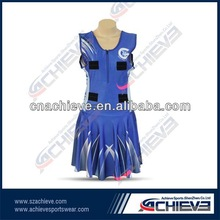 Fashion and beautiful netball dress for sports girls