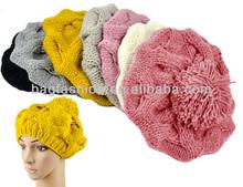 Hot Sale Women's Winter Warm Knit Wool Beanie Hat Crochet Warm Pumpkin Ball Hat