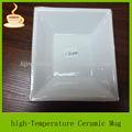 Plato de cerámica de venta al por mayor/baratos cena conjunto blanco para el restaurante/bandeja de cerámica