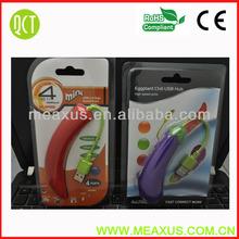 Retail Packaging Very Cute Design USB 2.0 4-Ports Eggplant Shape Super High Speed HUB