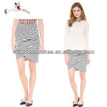 New Design Women Mature Pleats Asymmetrical Wrap Skirt