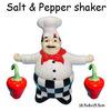 Ceramic chef design salt and pepper set