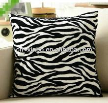 handmade Imitation Fur Zebra stripe Sofa cushion/pillow covers