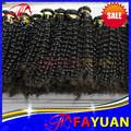 100% mongol cabello virgen extensión del pelo rizado
