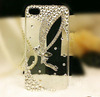 Clear crystal hard case back cover for iphone 5,luxury bling crystal rhinestone case for iphone 4,diamond stone crystal case for