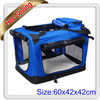 cat dog puppy pet carrier transport soft crate M Blue