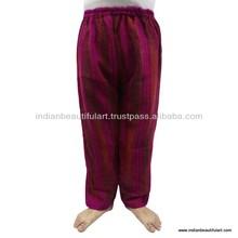 Striped Pattern Harem Women Wear Fashionable Trouser Wool Blend Warm Green Pants