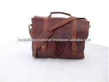 Leather messenger laptop shoulder bags