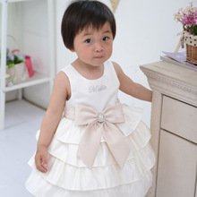 Beaded and Cream Embroidered Layered 1-4 year old girl dress