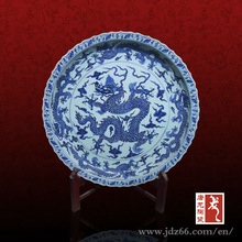 Best Quality Hand-craft Art Porcelain Competitive Price for Blue White Porcelain Plate